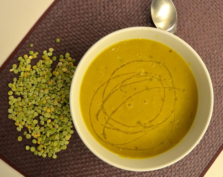 Split Pea-Pumpkin soup