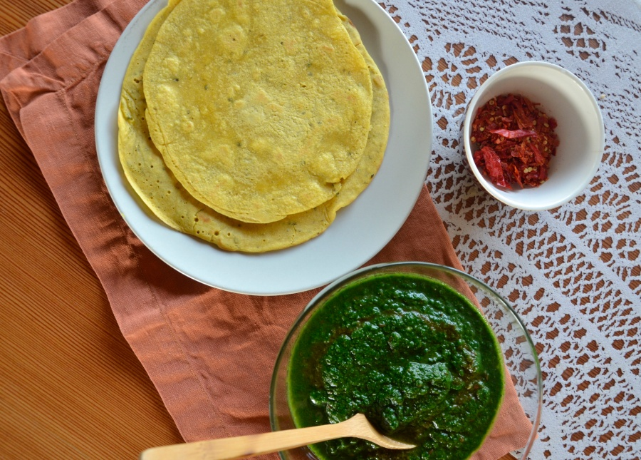 Indian simplicity: Chickpea Crepes withPalak