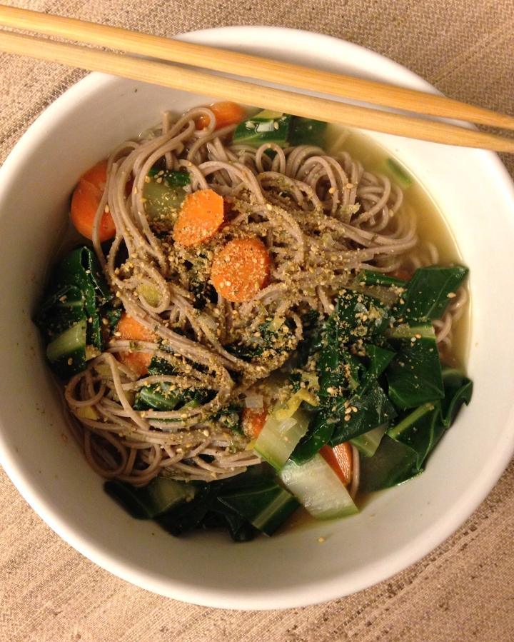 Soba-noodle soup