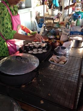 coconut mini pancakes