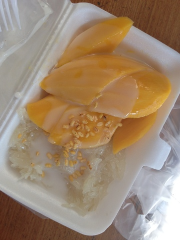 mango & sticky rice-a must thai snack/dessert