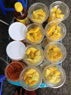 unripe mango with chili