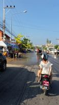 Wet streets from Songkran