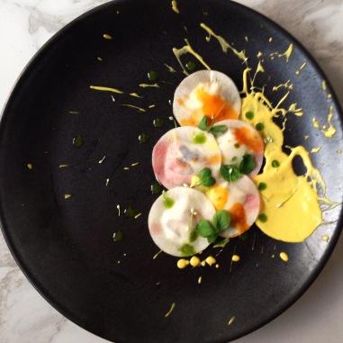 Pollock inspired ravioli