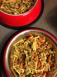 green lentils, carrots,celery, pasta