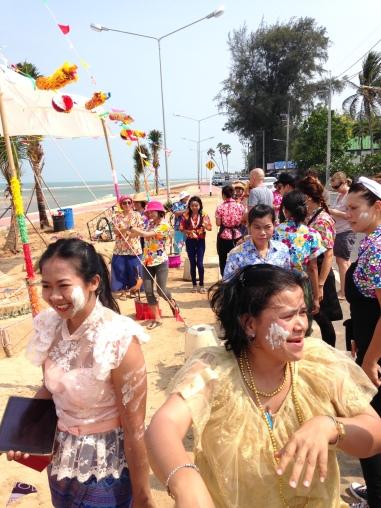 hotel staff celebrating