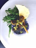 risotto, roasted mushrooms, rocket