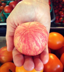 this is a peach tomato!