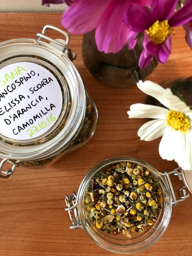 Homemade relaxing herbaltea